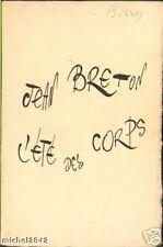 L'été des corps Jean BRETON EO 1966 Couverture de MORETTI POESIE