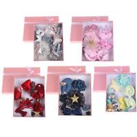 10Pcs/box kids girls bow knot flower hairpin hair clips baby hair accessories JR