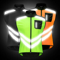 Hi-Vis Reflective Cycling Gilet Vest Sleeveless Windproof Waistcoat Bike Jacket