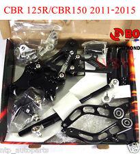 BLACK REAR SET REARSETS FOOTPEGS  REST 11-15 FOR HONDA CBR150 CBR 125 R 150 13