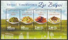 Turkey 2015 Traditional Food MNH sheet