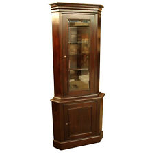 Georgian Style Solid Mahogany Corner Display Cabinet Wood