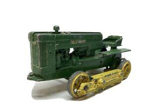 1950's Vintage Ertl Eska JOHN DEERE Crawler Tractor Parts Or Repair