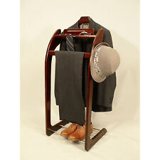 Suit Clothes Valet Wardrobe Stand Catchall Clothing Rack Mens Jewelry Organizer