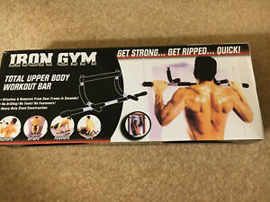 NEW Iron Gym Total Upper Body Workout Bar. Dips, Sit, Push & Pull Ups.