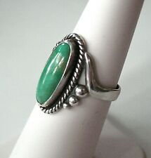 Vtg. Fred Harvey Era Bell Trading Post Sterling Silver Turquoise Ring