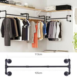 Clothes Rail Rack Garment Dress Shirts Hanging Display Stand Storage Shelf Rail
