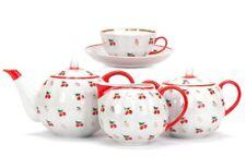 Russian Porcelain Tea set Dulevo 6 persons 15 pc Kuznetsov Porcelain Cherry Art