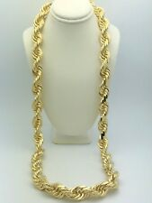 """Men's Solid 14K Yellow Gold 28"""" Diamond Cut Rope Chain Necklace 15mm-441.6 grams"""