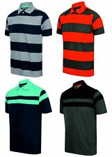 MENS POLO SHIRT STRIPED TEE T SHIRT PIQUE M - XXL NEW HORSE LOGO FASHION SUMMER