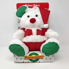Fisher Price Christmas Puffalumps Santa Teddy Bear Plush Toy Vintage New