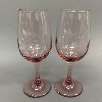 Mulberry Purple? Stem Stemware Wine Glass Glasses Lot of 2