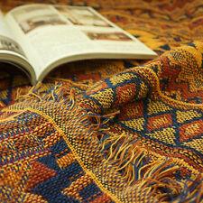 tapestry geometric aztec blanket ethnic throw KILIM turkey tribal tassel sofa A+