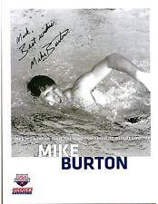 Mike Burton, Olympic Gold Swimmer, Signed Photo, COA, UACC RD 036