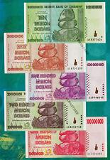 10 Trillion, 50 Billion & 500 200 100 Million Zimbabwe Dollars Banknotes AA 2009
