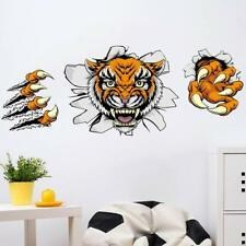 Large Removable Animal Tiger Wall Sticker Kids Living Room Office Decoration