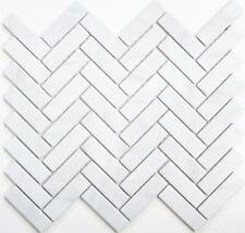 MOSAIC tile ceramic herringbone stone look white kitchen wall 24-SO10_f |10sheet