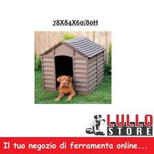 Cuccia per Cani esterno plastica cm 78X84X60/80H BEIGE/MARRONE