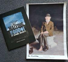 SIGNED Ian McKellen Samuel Beckett Waiting for Godot painting programme Gandalf