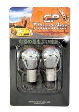 1156 3497 1141 7506 BA15S Chrome Silver Amber Light Bulb Straight Pin GP Thunder