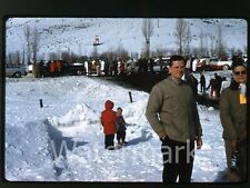 1959 Kodachrome photo slide Cutter Races Jackson WY snow