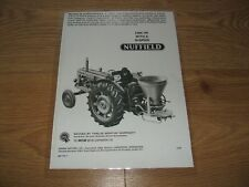 1965 NUFFIELD 10/60 TRACTOR ADVERT (LAMINATED COPY) SHOW/SHED/RALLY/CLASSIC/VTG