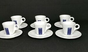 Lot of 6 Lavazza Branded Espresso Demitasse Cup and Saucer Set Made In Italy