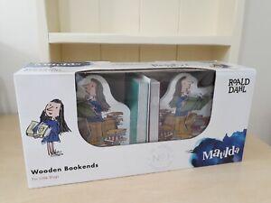 Pair of Roald Dahl Matilda Bookends - NEW