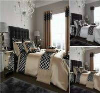 Luxuries SHINY EMBROIDERY Polyester Duvet Quilt Cover Set,Or Matching Curtain Gc