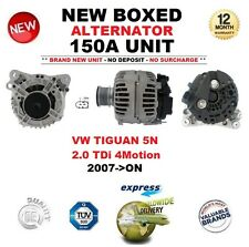 ALTERNATOR FOR VW TIGUAN 5N 2.0 TDi 4Motion 2007-ON BRAND NEW 150A BOXED