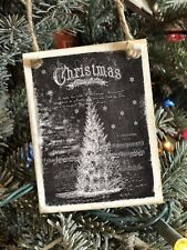 Chalkboard Christmas Tree Ornament Farmhouse Piano Sheet Decor Vintage Gift