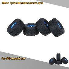 4Pcs/Set 1/10 Monster Truck Tire Tyres for Traxxas HSP HPI Kyosho RC Car F6V6