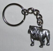 BULLDOG English Bull Dog Fine Pewter Keychain Key Chain Ring Fob