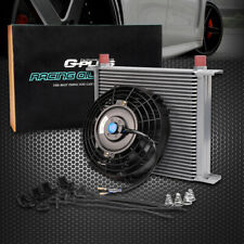 """Universal 30 Row Engine Transmission 10An Oil Cooler + 7"""" Electric Fan Kit"""