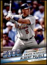 Albert Pujols 2020 Topps Decade's Best Series 2 5x7 Gold #DB-81 /10 Cardinals