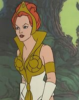He-Man Masters of the Universe Animation Production Teela Cel & Copy BG