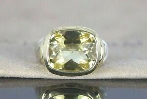 $1,300 David Yurman 14K Yellow Gold Sliver Lemon Citrine Noblesse Ring Band 5.75