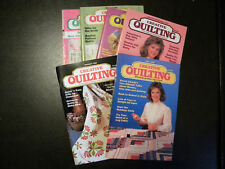 1986, 1987, 1991 Creative Quilting Magazine, Lot of 6, Sewing, Log Cabin