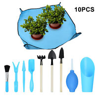 10Pcs Gardening Mini Garden Hand Transplanting Succulent Tool DIY Plant Kit Blue