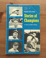 Vintage Baseball Book Hall of Fame Stories of Champions Epstein Babe Ruth 1969