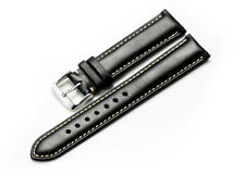 18 19 20 21 22mm Genuine Calfskin Leather Replacement Watch Band Padded Strap
