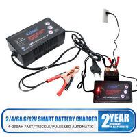 Cargador de Batería para Coche y Moto 12V 6V 2-6A Cargador Mantenedor Automático