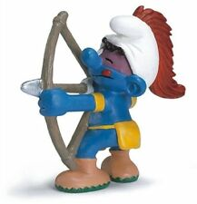 ARCHER AMERICAN INDIAN SMURF from 2007 by SCHLEICH THE SMURFS - 20551