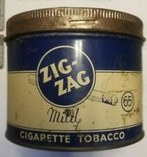 zig zag 65 cent wartime package tobacco tin
