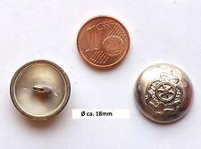 Krone Metall Matt Mantel Knopf Knöpfe 2,3cm 23mm 5 Stück NEU