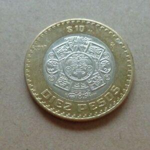 MEXICO 2017 10 Pesos bi-metal coin MS Mayan Calendar