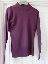 Matalan Ladies Purple Long Sleeved Jumper Size 8