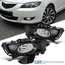 Fit 07-09 Mazda 3 Sedan 4Dr Clear Lens Fog Lights Driving Bumper Lamps+Switch