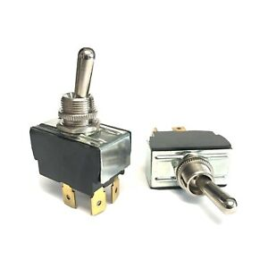 Pair Of Carling Heavy Duty Toggle Switches for Guitar Amps. On-off