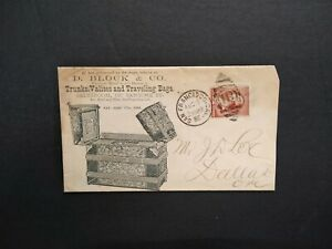 California: San Francisco 1886 Block Traveling Trunks, Valises Advertising Cover